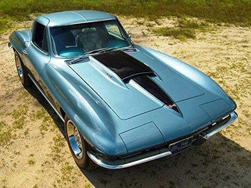 1967Chevrolet Corvette Aqua Blau Coupe Maus Pads Mousepads Classic Vintage alte Autos, Hot Rods Speed Computer dessktop Supplies Maus-pad-aqua Blau
