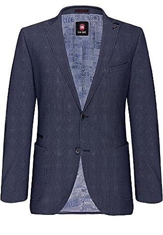 CG - CLUB of GENTS Herren Jersey-Sakko Blazer Jacke CG Adkyn 71-227S1-62 blau,Größe 50