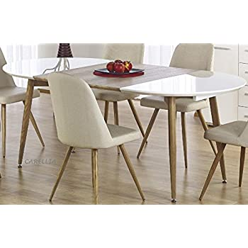 160260X Home 100 Ovale Blanc Kave Oqui Table Cm Extensible nwv0mP8yNO