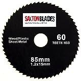 Saxton 85mm x 60T HSS Circular Saw Blade Worx Worxsaw Bosch Makita Ryobi etc