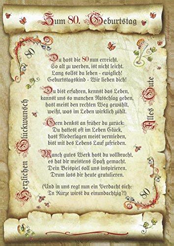 Die Staffelei Geschenk 80. Geburtstag Gedicht Präsent Jubiläum