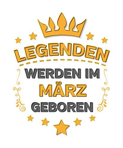 -- Legenden werden im März geboren -- Boys Kapuzenpullover Weiß