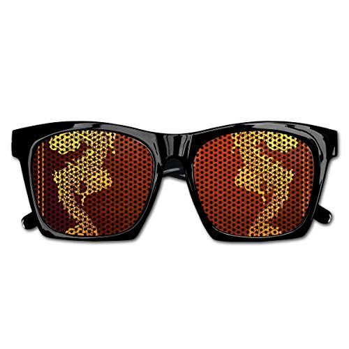 EELKKO Mesh Sunglasses Sports Polarized, Chinese Heritage Historical Asian Eastern Motif with Legendary Creature Design,Fun Props Party Favors Gift Unisex