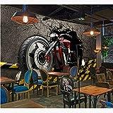 Papiers peints muraux en 3D vintage Autocollants de moto Fond d'écran photo Papier peint à la maison Décor de bar Papier peint auto-adhésif en vinyle/soie-280X200CM