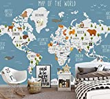 3D Papier Peint Intissé Fond D'Écran Bande Dessinée Monde Carte Tv Fond Mur Salon Chambre Chambre Enfants Fond 3D Peintures Murales De Papier Peint @ 200 * 140
