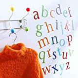 Childrens Alphabet Wall Stickers, 26 stickers a-z, Harlequin Brights