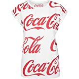 MERCHCODE Damen Ladies Coca Cola AOP Tee T-Shirt, White, S