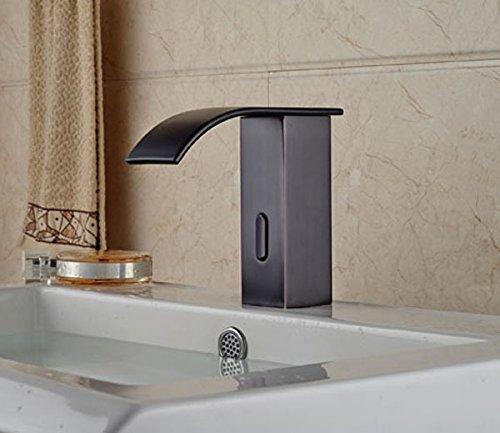 Tougmoo touch free sensore automatico rubinetto lavabo singolo freddo miscelatore rubinetto cascata olio strofinato bronzo Chrome