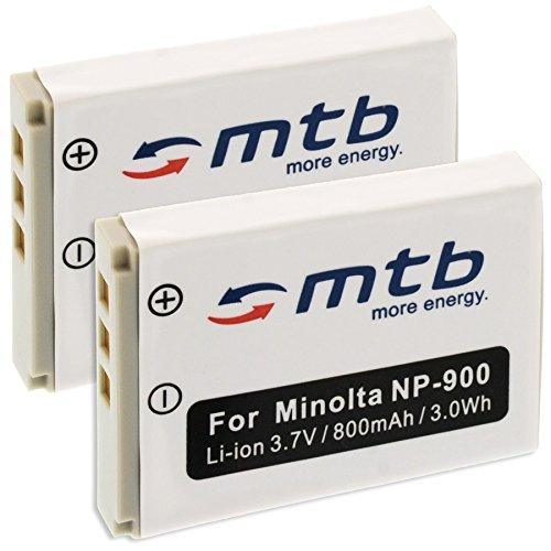 2x Batterie NP-900 per Konica Minolta Dimage E40,