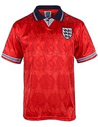 England Official Football Gift Mens 1990 World Cup Finals Home & Away Kit Shirt