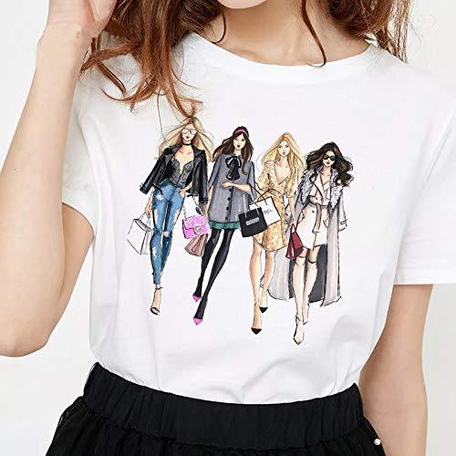 WDFSER 2019 Frauen Gossip Girl Mode Druck 100% Baumwolle Gothic Streetwear Harajuku Frauen Kleidung Graphic T Shirts 90 s Punk Gossip Girl Mode