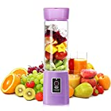 SL&VE Personal Single Serve Blender, 500ml electric Rechargeable Mixer Cup For Sport, Travel And Home, Tritan Bpa Free-purple