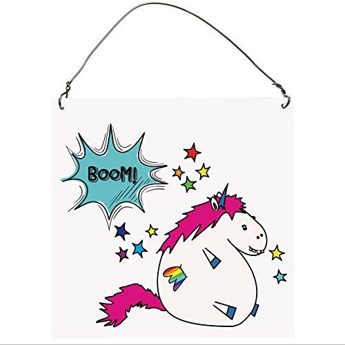 Funny Unicorn Kleine Metall Schild 10,2x 10,2cm