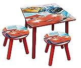 Unbekannt Fun House–712426–Cars–Quadrat Tisch mit zwei Barhocker
