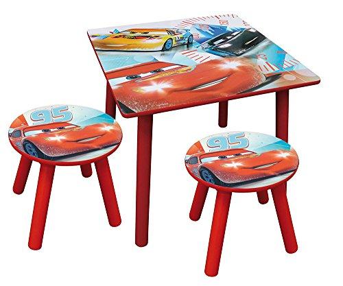 Barhocker Durchmesser (Fun House–712426–Cars–Quadrat Tisch mit zwei Barhocker)