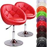 Miadomodo Chesterfield Armchairs Stylish Lounge Tub Chairs (Red) Home Living Room Furniture (Set of 2)
