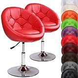 MIADOMODO Chesterfield Lounge Sessel Barhocker Cocktail-Drehsessel 360° drehbar in der Farbe und Set Ihrer Wahl
