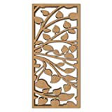 NISH! 'Deco Panel' Collection | Can be used as Room Partitions, Screens, Dividers, Jali, Wall Art, Hanging, Décor, Doors (MDF Wood - 12mm thick, 3ft x 6ft, Natural Color, 1 Piece) for Living Room, Drawing Room, Kitchen Cabinet, Cupboards, Furniture