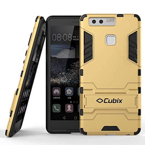 Quicksand Cubix Robot Case For Huawei P9 Case Back Cover Warrior Hybrid Defender Bumper Shock Proof Case Armor Cover With Stand For Huawei P9 Gold  available at amazon for Rs.398