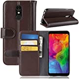 Codream LG Q7 Case,Wallet Retro Multifunction Leather Wallet Case Cover [ Kickstand ] Pu Leather Wallet Case With ID & Credit Card Slot For LG Q7