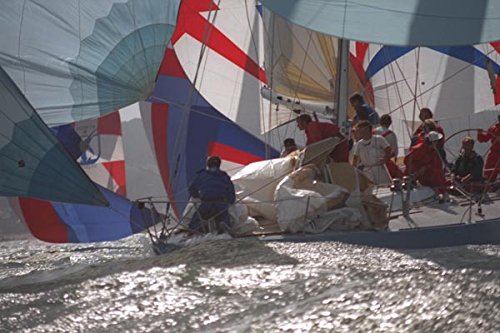 172097-camaflouge-manages-lots-of-sails-at-the-big-boat-series-a4-photo-poster-print-10x8
