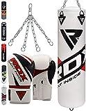 RDX Sacco da Boxe 4FT 5FT Sacchi Pugilato MMA Pieno Guanti Terra Base Allenamento