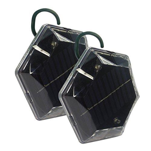 ISOTRONIC dispositivi di allontanamento uccelli a energia solare a ultrasuoni saccia piccioni confezione de 2
