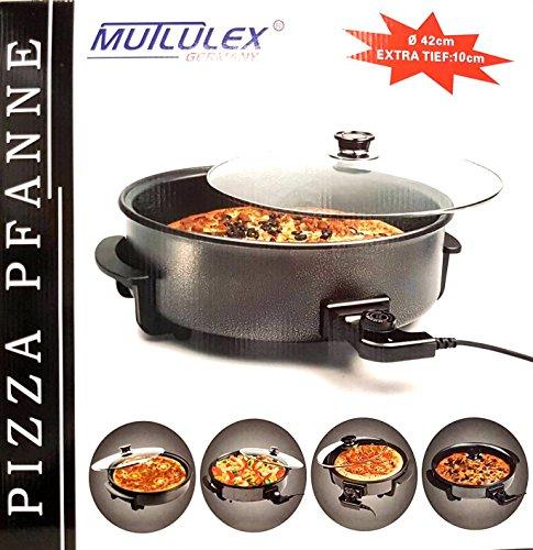 XXL Elektrische Multipfanne Ø 42cm/10cm Pizzapfanne Elektropfanne EXTRATIEF GRAU