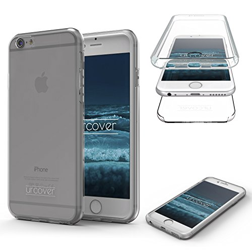 "Urcover Kompatibel mit Apple iPhone 6 / 6s ""Touch Case 2.0\"" [Upgrade Juni 2017] 360 Grad Rundum-Schutz Full Cover [Unbreakable Case bekannt aus Galileo] Full Body Case Schale Grau Transparent"