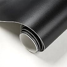 Fancy-fix Tafel-Aufkleber Selbstklebende Tafelfolie Kreidetafel in der Größe 60x200 cm in Schwarz