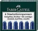Faber-Castell Tintenpatronen Standard, 6 Stück in Faltschachtel (3 Packungen, königsblau)