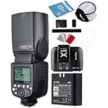 Godox V860II-C TTL Flash Speedlite 2.4G Inalámbrico E-TTL II Li-on Cámara Flash + Difusor + X1T-C Tranmisor+ Filtros de Colorpara Canon 6D 50D 60D 1DX 580EX II 5D Mark II III (V860II-C)