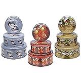Metall 3-teiliges Weihnachten Keksdosen Set