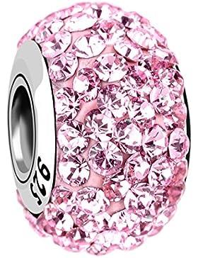 Nenalina Crystal Bead rosé in 925 Sterling Silber, auch kompatibel für Pandora Beads Armbänder, 718072-004