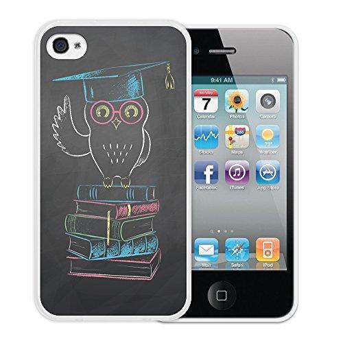 iPhone 4 iPhone 4S Hülle, WoowCase Handyhülle Silikon für [ iPhone 4 iPhone 4S ] Herzen aus Federn Handytasche Handy Cover Case Schutzhülle Flexible TPU - Transparent Housse Gel iPhone 4 iPhone 4S Transparent D0313