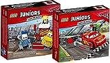 LEGO Juniors Cars 10732 - Guido und Luigis Pit Stopp + LEGO Juniors Cars 10730 - Lightning McQueens Beschleunigungsrampe