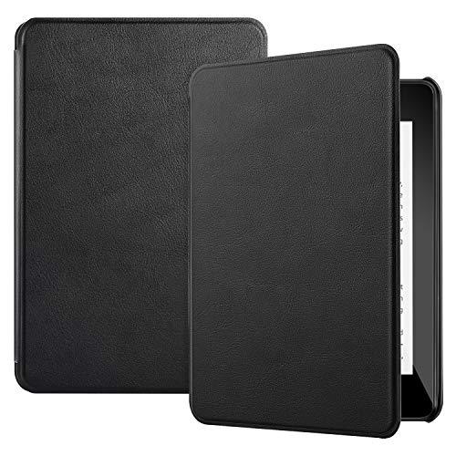IVSO Hülle Kindle Paperwhite 2018, Ultra Schlank Slim Schutzhülle Hochwertiges PU Perfekt Geeignet für Amazon Kindle Paperwhite (10th Generation, 2018 Release), Schwarz