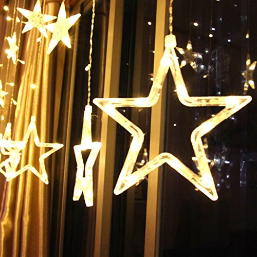 Led di amore della stella piccola lanterna Flash luci della stringa Gissola cinque stelle matrimonio matrimonio camera Proposta bianche di compleanno luci esterne piccola lanterna ( colore : Bianco caldo ) - Allungato Stella