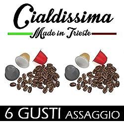 cialdissima compatibile Nespresso - 60 cialde capsule di caffè - 6 gusti diversi ASSAGGIO