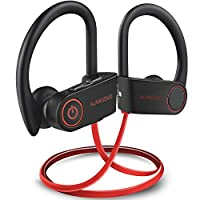 Bluetooth Headphones Wireless Sports Earphones, ALANGDUO Wireless Bluetooth 4.1 Earphones with Mic, HiFi Stereo Sweatproof in Ear Earbuds Headsets Handfree Workout Running, Gym, 8 Hours Play Time