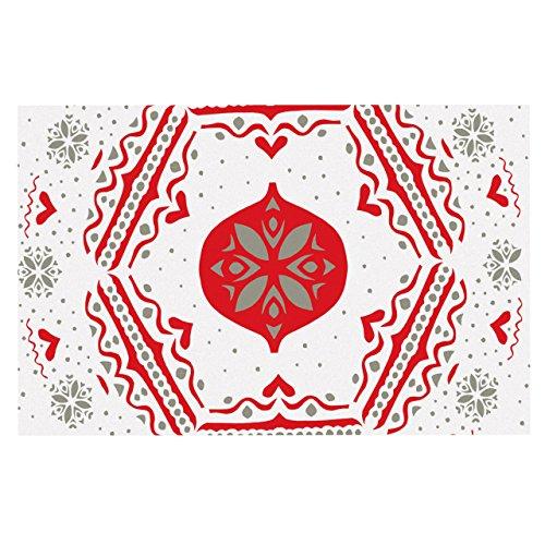 MOL snowjoy weiß Rot dekorative Fußmatte, 24von 91,4cm ()