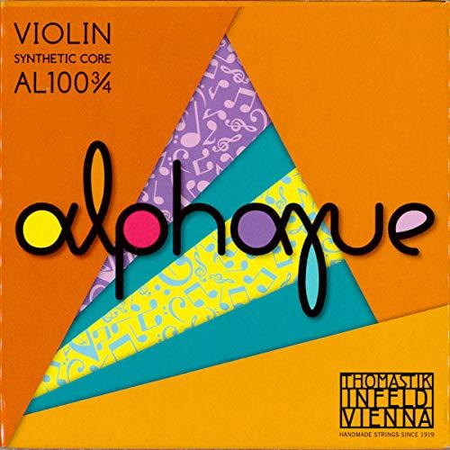 Thomastik Corde per Violino ALPHAYUE nucleo di nylon, set 3/4, Misura 305mm / 12'