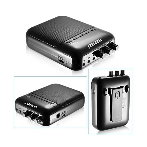 Neewer® NW-03M Amplificatore cubico multifunzione per chitarra elettrica, portatile, 5 W, con altoparlante e registratore –Supporto per schede TF fino a 32G (Nero)