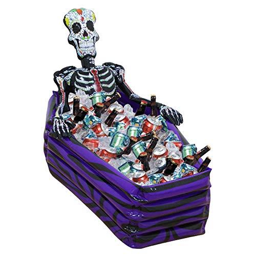 FXQIN Aufblasbarer Skelett-Kühler, Trink-Eiskübel, Party-Versorgungs-Kühler, Halloween-Dekorations-Spielzeug-Stangendekoration, Zubehör für den Außenpool