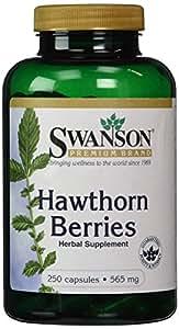 Swanson Baies d'Aubépine 565mg, 250 gélules - Tonifiant Cardio-Vasculaire Naturel (Hawthorn Berries capsules - Crataegus Oxyacantha)