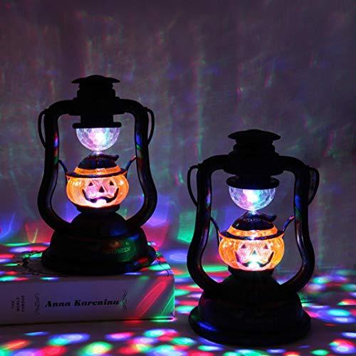 EDQZ Halloween Decor Handheld Lampe Laterne Sound K¨¹rbis Nachtlicht Bar Home Decor