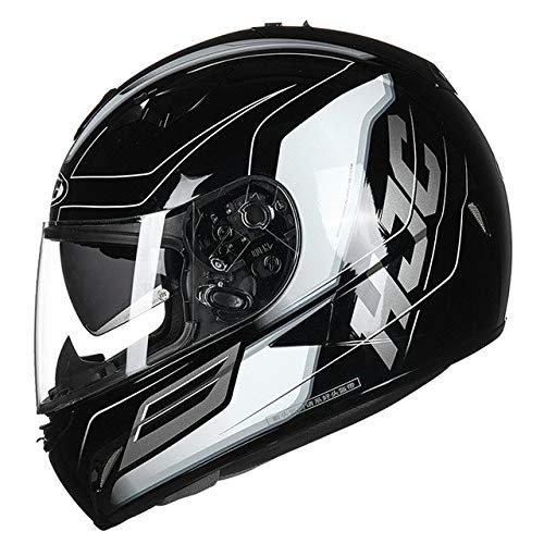 Motorradhelm Ganzkörper Männer Und Frauen Motorrad Racing Helm Four Seasons Double Lens Full Helm SKYRIDE MC5 L (Frauen Magneto Kostüm)