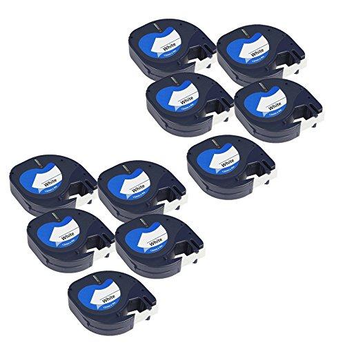 10-x-compatible-plastico-cintas-dymo-letratag-91201-negro-sobre-blanco-12mm-x-4m-para-letratag-lt110