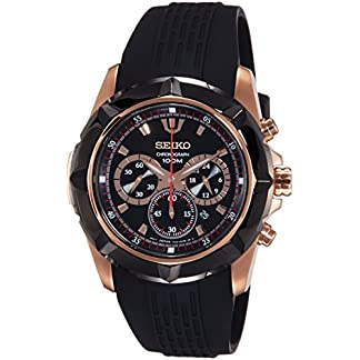 Seiko Lord Chronograph Black Dial Men's Watch – SRW030P1