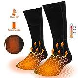 Molbory Beheizte Socken für Männer und Frauen, Elektrische Beheizte Socken, Fußwärmer Socken Heated Socks mit 3 Dateien Batteriebetriebene Socken für Camping/Angeln/Radfahren/Motorradfahren/Skifahren
